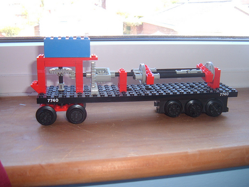 Lego tilting train, first attempt